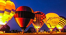 Photo: Hot Air Balloon Glow