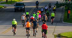 Photo: Crowd of bicycle riders at 2015 Reid Ride