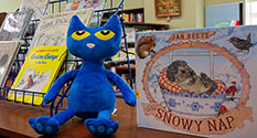 Photo: Blue Pete-the-Cat stuffie by