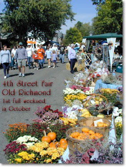 4th Street Fair in Old Richmond - 1st Full Weekend in October
