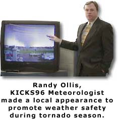 Randy Ollis promotes severe weather safety.  (18K)
