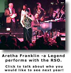 Aretha Franklin performs with RSO