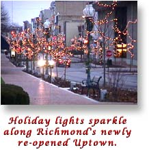 Uptown with Christmas Lights  (24708 bytes)