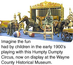 Humpty Dumpty Circus, on display at the Wayne County Historical Museum.