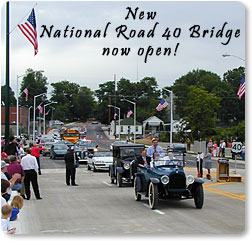 New National Road 40 Bridge  Opened June 28, 2000.
