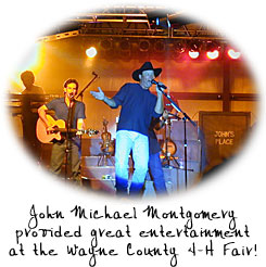 John Michael Montgomery provided great entertainment at the Wayne County 4-H Fair.