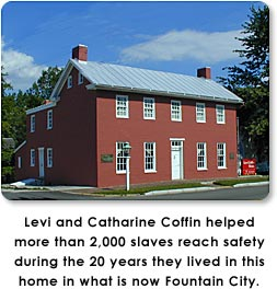 Levi Coffin House in Fountain City, Indiana.