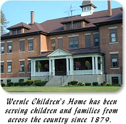 Wernle Children's Home has been serving children and familes since 1879.