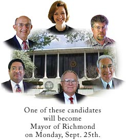 Mayoral Candidates for Richmond - September 2000