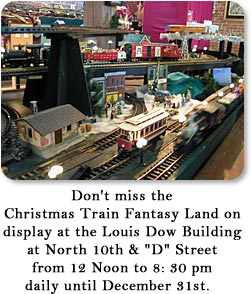 Christmas Train Fantasy Land on display at the Louis Dow Building.