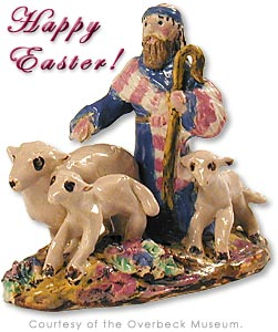 Happy Easter!  Shepherd and his flock as created by the Overbeck Sisters.