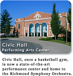 Civic Hall Performing Arts Center - home to Richmond Symphony Orchestra.