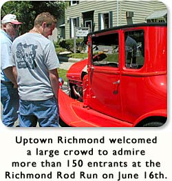 Uptown Richmond welcomed a large crowd to admire the 150 entrants at the Richmond Rod Run on June 16th.