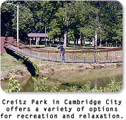 Creitz Park in Cambridge City.
