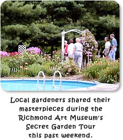 Local gardeners shared their masterpieces during the Richmond Art Museum's Secret Garden Tour.