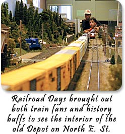 Railroad Days brought out both train fans and history buffs to see the interior of the old Depot on North E Street.