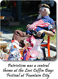 Patriotism was a central theme at the Levi Coffin Days Festival at Fountain City.