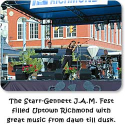 The Starr-Gennett J.A.M. Fest filled Uptown Richmond with great music from dawn till dusk.