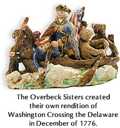 The Overbeck Sisters created their own rendition of Washington Crossing the Delaware in December of 1776.