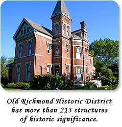Old Richmond Historic District has more than 213 structures of historic sig