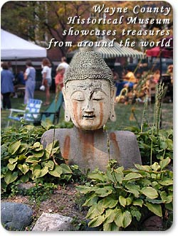 This Budda is an example of the treasures from around the world showcased at the Wayne County Historical Museum.