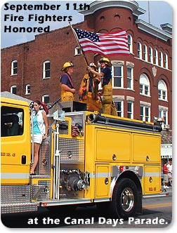 September 11th Fire Fighters Honored at the Canal Days Parade in Cambridge City.
