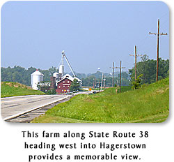 This farm along State Route 38 heading west into Hagerstown provides a memorable view.
