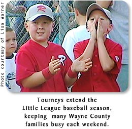 Tourneys extend the Little League baseball season, keeping many Wayne County families busy each weekend.