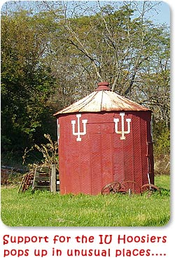 Support for the IU Hoosiers pops up in unuusual places...