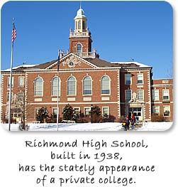 Richmond High School, built in 1938, has the stately appearance of a private college.