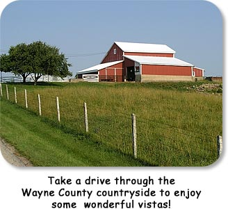 Take a drive through the Wayne County countryside to enjoy some wonderful vistas!