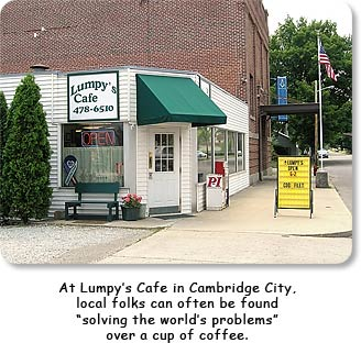 Lumpy's Cafe in Cambrdige City.  Click for a larger view.