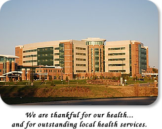 Photo of the new Reid Hospital.  We are thankful for our health...and outstanding local health services.