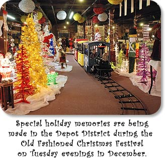 Special holiday memories are being made in the Depot District during the Old Fashioned Christmas Festival on Tuesday evenings in December.