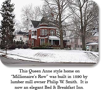 "This Queen Anne style home on ""Millionaire's Row"" was built in 1890 by lumber mill owner Philip W. Smith.  It is now an elegant Bed & Breakfast Inn."