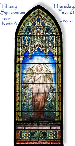 Tiffany window located in St. Paul's Episcopal Church in Richmond, Indiana.