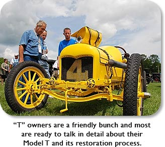 """T"" owners are a friendly bunch and most are ready to talk in detail about their Model T and its restoration process."