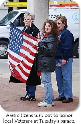 Local citizens turn out to honor local Veterans at Tuesday's parade.