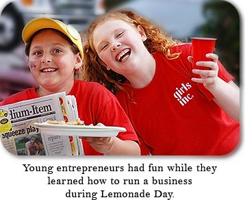 Young entrepreneurs had fun while they leared how to run a business during Lemonade Day.