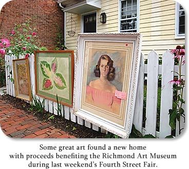 Some great art found a new home with proceeds benefiting the Richmond Art Museum during last weekend's Fourth Street Fair.