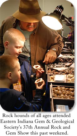 Rock hounds of all ages attended Eastern Indiana's Gem & Geological Society's 37th Annual Rock and Gem Show this past weekend.