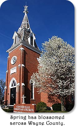 "Centerville Christian Church - ""Spring has blossomed across Wayne County."""