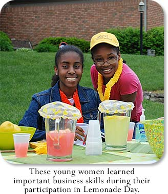 These young women learned important business skills during their participation in Lemonade Day.