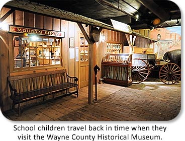 School children travel back in time when they visit the Wayne County Historical Museum.
