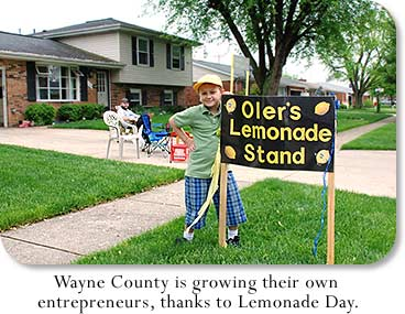 Oler's Lemonade Stand: Wayne County is growning their own entrepreneurs, thanks to Lemonade Day.