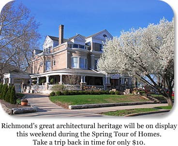 Photo: Canteberry Salon & Day Spa.  Title: Richmond's great architectural heritage will be on display this weekend during the Spring Tour of Homes.  Take a trip back in time for only$10.