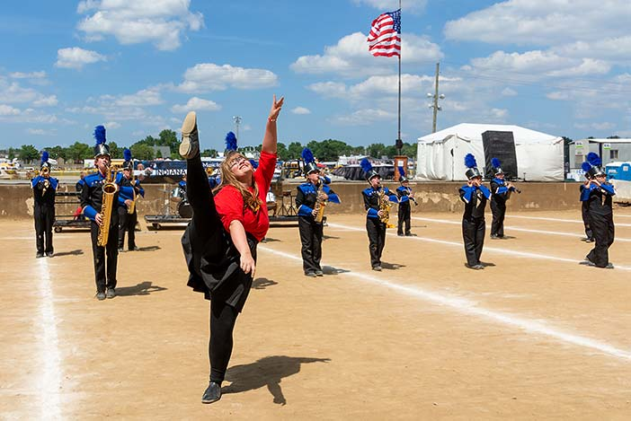 Lincoln at State Fair Band Day