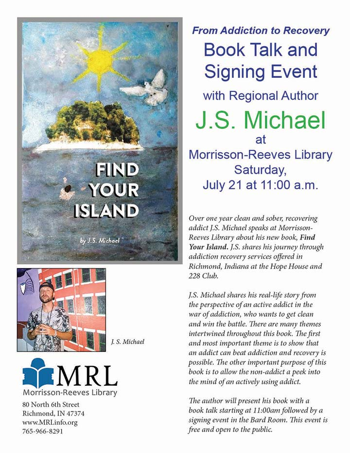 Flyer: Book Talk & Signing with Author, J.S. Michael