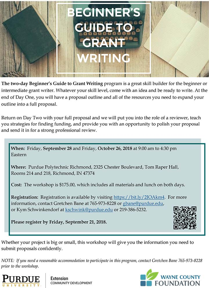 Flyer: Beginners Guide to Grant Writing