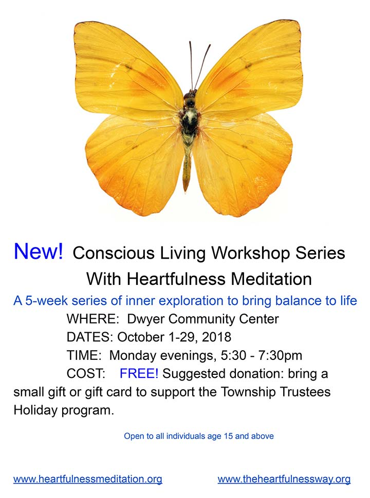 Supplied Flyer: Conscious Living Workshop